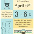 Pittsboro 2017 Farmer's Market Begins April 6!