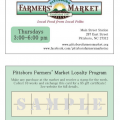 Introducing the Pittsboro Farmers' Market Loyalty Program!